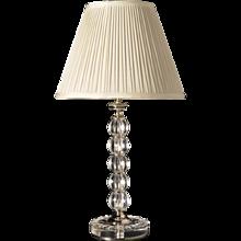 Diamond shaped cut crystal candle stick lamp