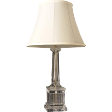 NEOCLASSICAL Style crystal lamp with plinth base