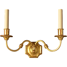 Gunmetal and gilt bronze one light sconce