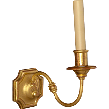 Giltwood and gesso one light sconce