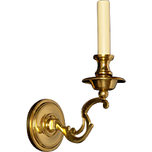 "Gilded bronze ""S"" arm one light sconce"