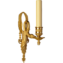LOUIS XVI Style gilded bronze sconce with cygnet, one light