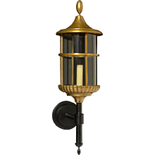 Bronze outdoor wall lantern, one light