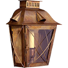 Brass indoor/outdoor one light lantern