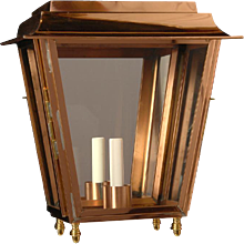 Copper indoor/outdoor one light lantern