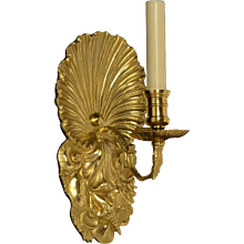 """SHELLS"" Motif pewtered bronze one light sconce"