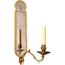 VENETIAN Style giltwood and gesso one light sconce
