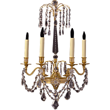 BALTIC Style gilded and crystal four light sconce