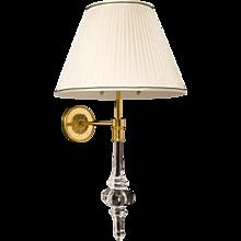 """""""RAJ"""" Crystal and gilt bronze two light sconce"""