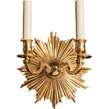 """""""ETOILE"""" L. XVI style gilded bronze two light sconce"""
