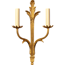 DIRECTOIRE Style gilded bronze two light sconce