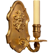 REGENCE Style gilded bronze one light sconce with mask