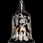 """ARABESQUE"" crystal bell shaped three light lantern"