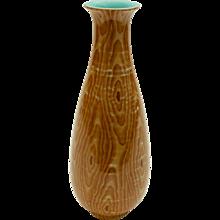 Chinese Faux Bois Porcelain Vase