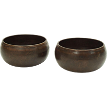 Pair of Bronze Nepalese Begging Bowls