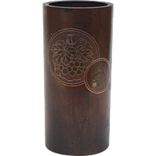 Japanese Bronze with Silver Inlay