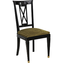 Set of Eight Directoire-style Dinning Chairs