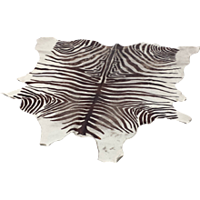 Cowhide Rug with Printed Zebra Design
