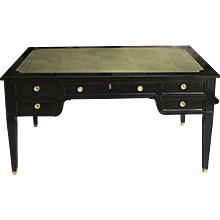 Directoire Style Leather-Top Bureau Plat Desk