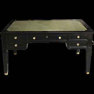 Directoire Style Leather-Top Bureau Plat Desk