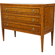 Neoclassical Parquetry Commode