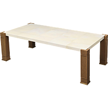 Parchment & Cerused Oak Cocktail Table