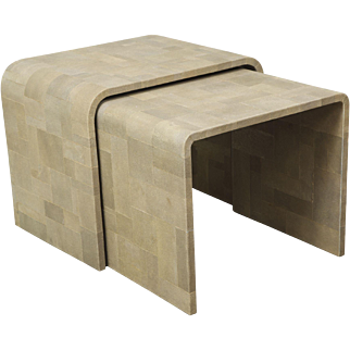 A Set of Shagreen Patchwork Nesting Tables