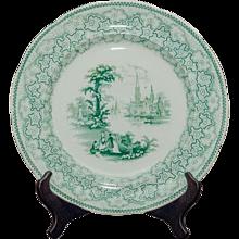 Set of six Fell & Co. earthenware plates.