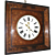 Superb French Charles X Inlaid Wall Clock