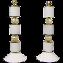 Albarelli 1960 Tall Murano Lamps