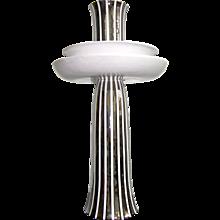 Ceramica Gatti Unusual Centerpiece Decorated with Pure Platinum