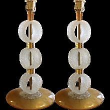 Italian 1970s Murano Glass Lamps