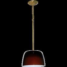 1970s Italian Minimalist Coffee Brown Murano Glass Pendant Light