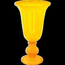 1970s Monumental Art Glass Vase