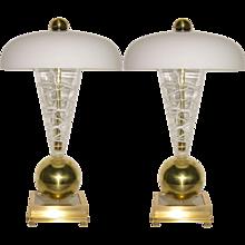 Vistosi 1970s Italian Murano Glass Lamp