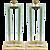 Modern Italian Grand Size Pair of Fontana Arte Style Aqua Glass and Brass Lamps