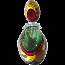 Silvano Signoretto Rare Ovoid Murano Glass Large Sized Bottle