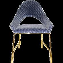 Smania Italian Modern Prototype Blue Velvet Armchair