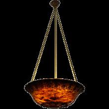 An Amber Alabaster Light Fixture