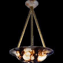 An Alabaster Light Fixture