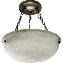 A Petite Alabaster Light Fixture