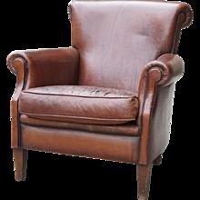 Deco Leather Club Chair