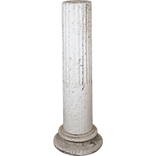 19th Century Carved Marble Pedestal