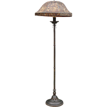 1920's Patinated Iron Floor Lamp