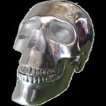 Aluminium Skull Sculpture  High 34 cm