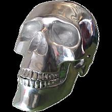 Aluminium Skull Sculpture  High 40 cm