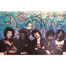 """Rock N Roll Legends """"Woodstock- Peace, Love, Music"""" by Hulbert Waldroup"""