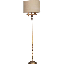 Hollywood Regency Gold Plated Bronze Floor Lamp