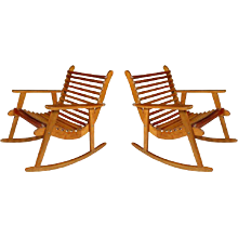 Michael Van Beuren Easy Rocking Chair Pair for Domus