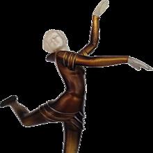 Bronze and Ivory Ballet Russes Dancer Statuette by Stefan Dakon